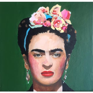 Frida Contemporary Portrait Painting For Sale