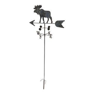 Antique Moose Free Standing Weathervane For Sale