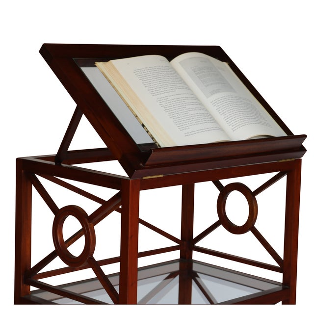 Colonial-inspired piece would fit well into a Jefferson library or in the bedroom of a book lover. Constructed of finger-...