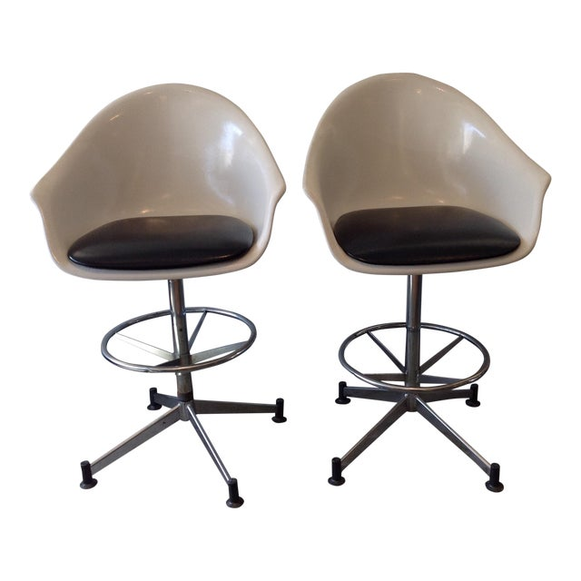 Vintage Cosco Shell Bar Stools- A Pair - Image 1 of 11