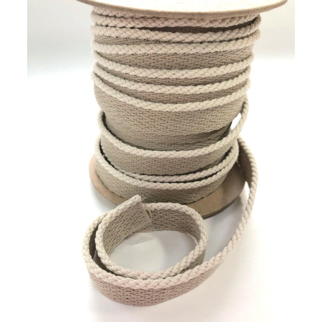 """1/8"""" Indoor/Outdoor Cable Cord Trim in creamy white. One 22 yard (20 meter) spool of 1/8"""" (3mm) braided cord with 1/2""""..."""