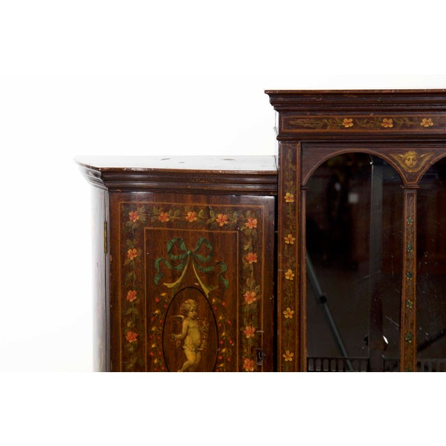 Late 19th Century Edwardian Classical Painted Antique Console Cabinet Circa 1860-80 For Sale - Image 5 of 13