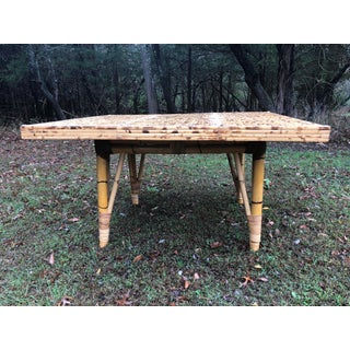 Vintage Boho Chic Rattan Dining Table Preview