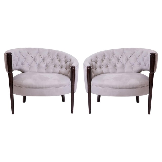 1940s Sculptural Diamond Tufted Lounge Chairs - a Pair For Sale In Phoenix - Image 6 of 6