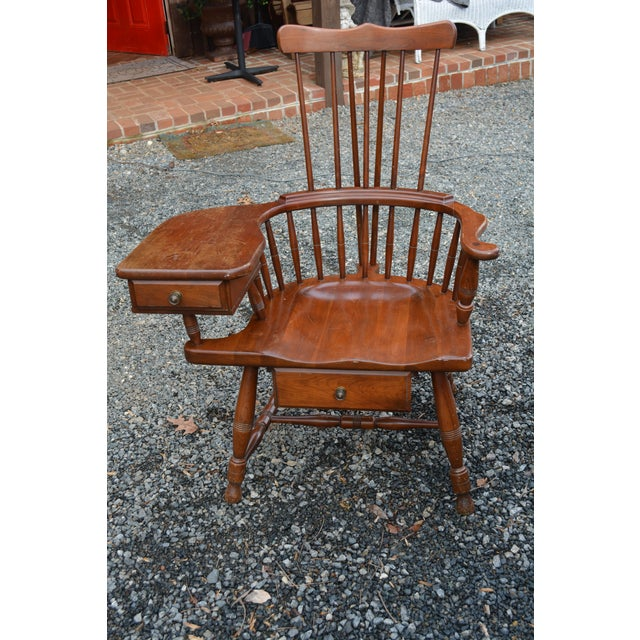 1960s Vintage Pennsylvania House High Back Windsor Chair For Sale - Image 6 of 6