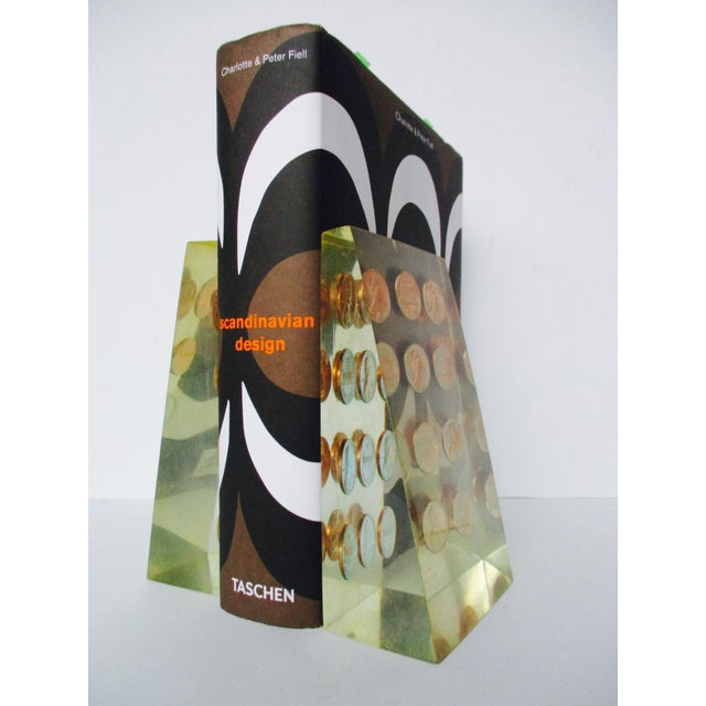 1972 Lucite Penny Bookends - A Pair - Image 5 of 8