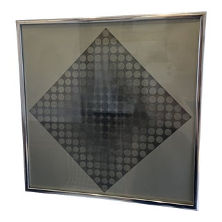 1960s Vintage Victor Vasarely Silk Screen Print For Sale