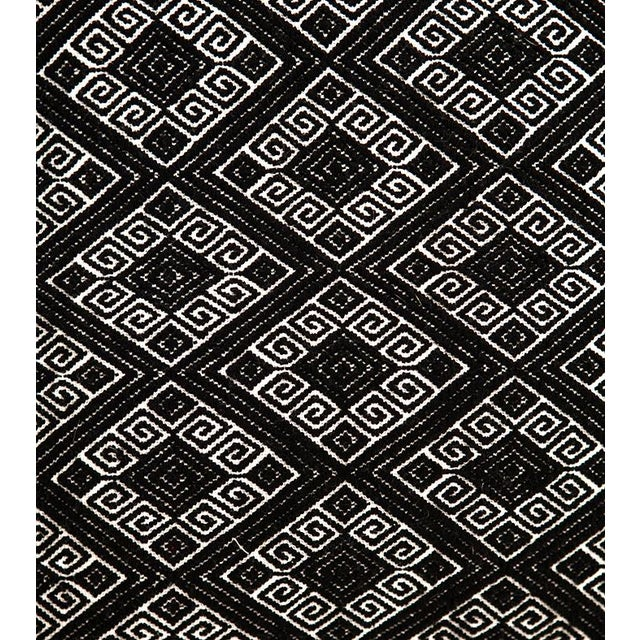 Black Diamonds Handwoven Pillow - Image 3 of 6