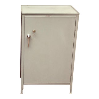 1990s Industrial Lyon Locking Steel Cabinet For Sale