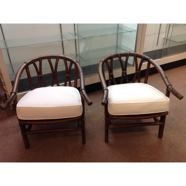 1970s 1970s Mid-Century Modern Ficks-Reeds Reed Side Chairs Designed by J. Wisner For Sale - Image 5 of 5