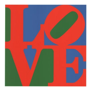 Robert Indiana-love (blue, Green, Red)-2004 Serigraph