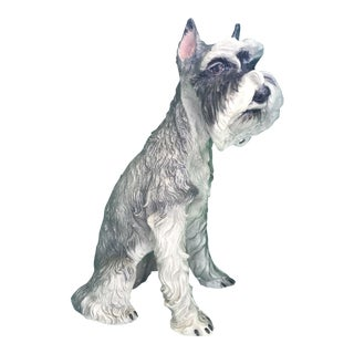 Large Schnauzer Dog Statue For Sale