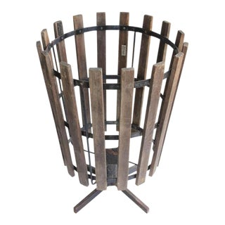 Vintage Industrial Basket For Sale