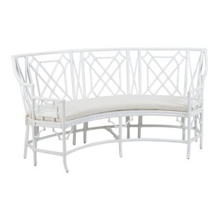 Wild Palm Settee, White For Sale