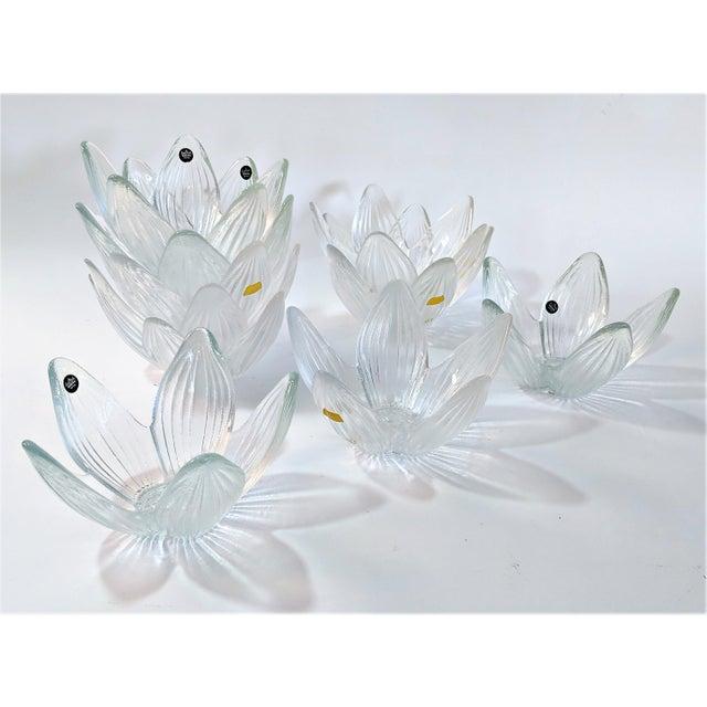 Rosenthal Studio Line Bleikristall German Glass Flower Petal Bowls - Set of 10 For Sale - Image 10 of 13