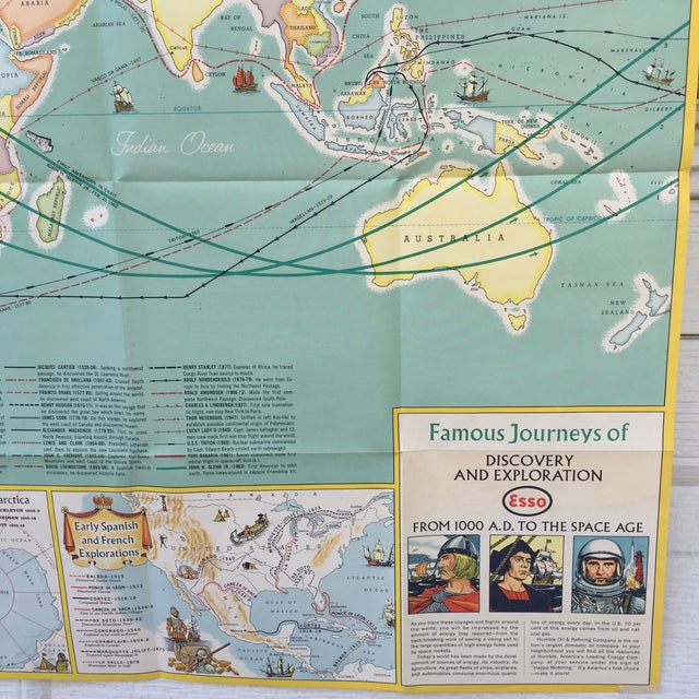 Vintage Map Journeys of Discovery and Exploration - Image 4 of 9