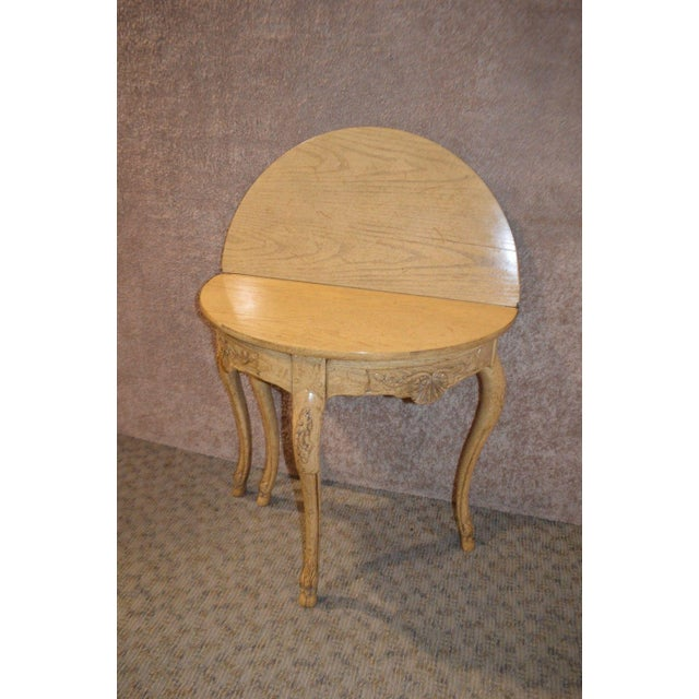 Baker Furniture Company Baker Country French Style Flip Top Card Table For Sale - Image 4 of 13