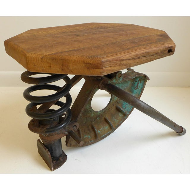 Metal High-Tech Side Table/Seat For Sale - Image 7 of 8