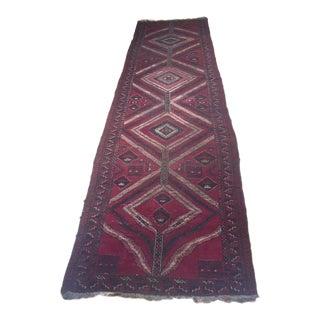 1920s Vintage Persian Tribal Baluch Runner Rug - 3′6″ × 12′8″ For Sale