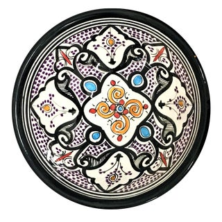 Moroccan Hand-Painted Small Multicolor Bowl For Sale