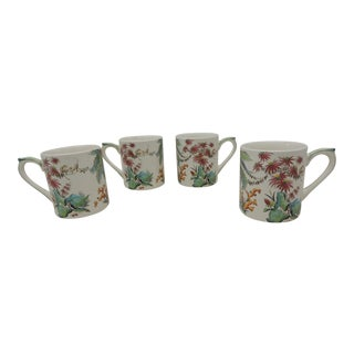 Set of (4) Gien China Tamarain Mugs For Sale