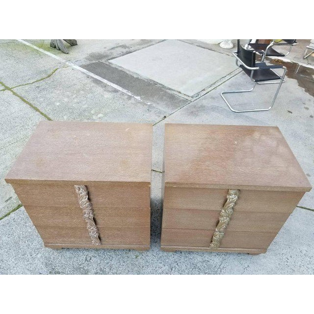 Albert Furniture Cerused Dressers - A Pair For Sale - Image 5 of 11