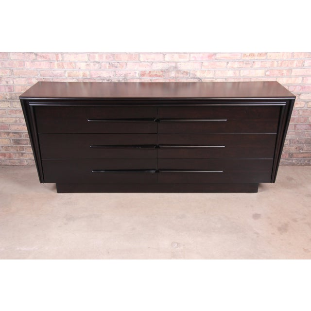 Edmond Spence Swedish Modern Ebonized Birch Dresser or Credenza, Newly Refinished For Sale - Image 13 of 13