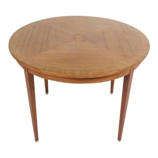 Mid-Century Round Neoclassical Table For Sale