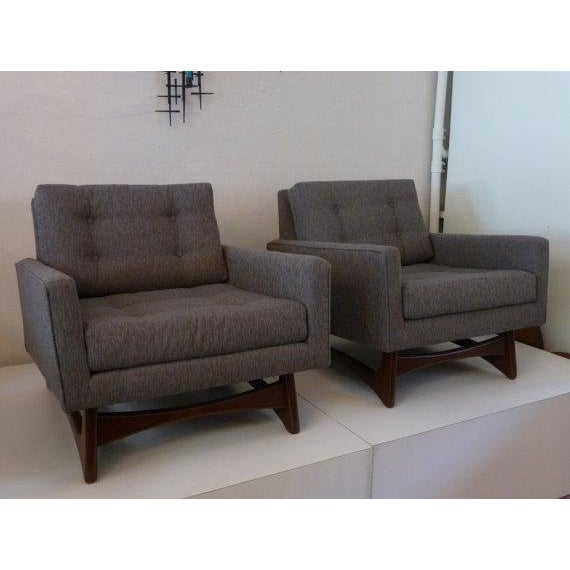 Mid-Century Modern Mid-Century Adrian Pearsall Chairs - A Pair For Sale - Image 3 of 6