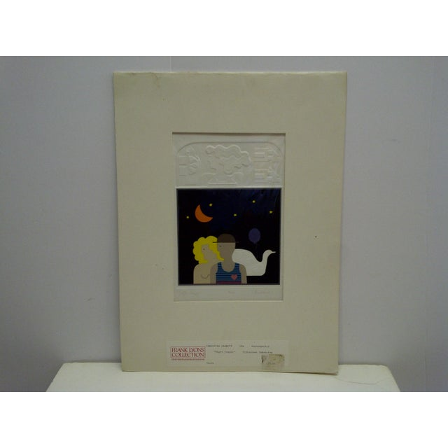 "This is a Limited Edition Signed And Numbered (56/200) Silkscreen Embossing that is titled ""Night Images"" by Christina..."