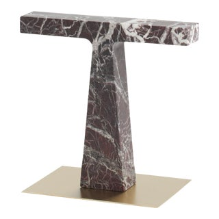 Red Levanto Marble Lamp by Niko Koronis, Made in Italy For Sale