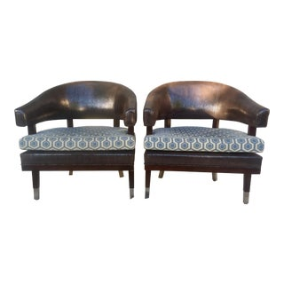 Marc David Barrel Accent Chairs - a Pair