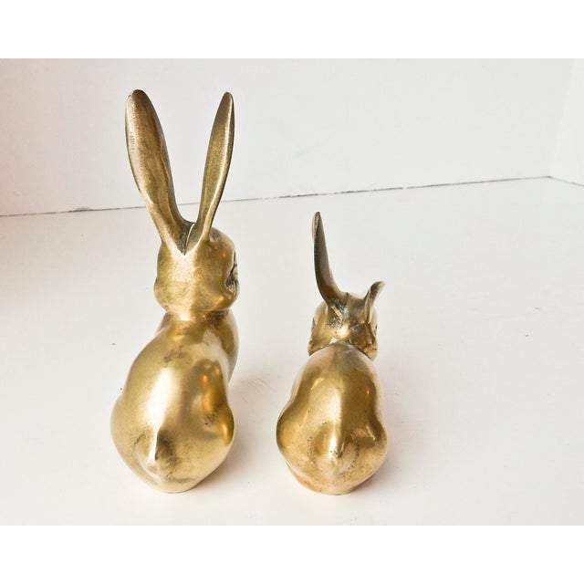 Brass Rabbit Figurines - A Pair - Image 5 of 6