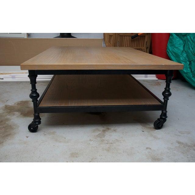 Industrial Chic Wood & Metal Coffee Table - Image 7 of 7