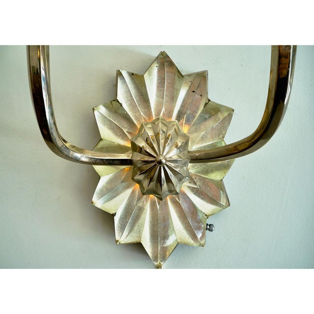 Crystal French Art Deco Sconces For Sale - Image 7 of 9
