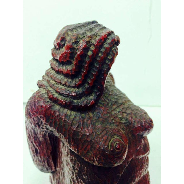 Wood Nude Woman Wooden Figure For Sale - Image 7 of 9