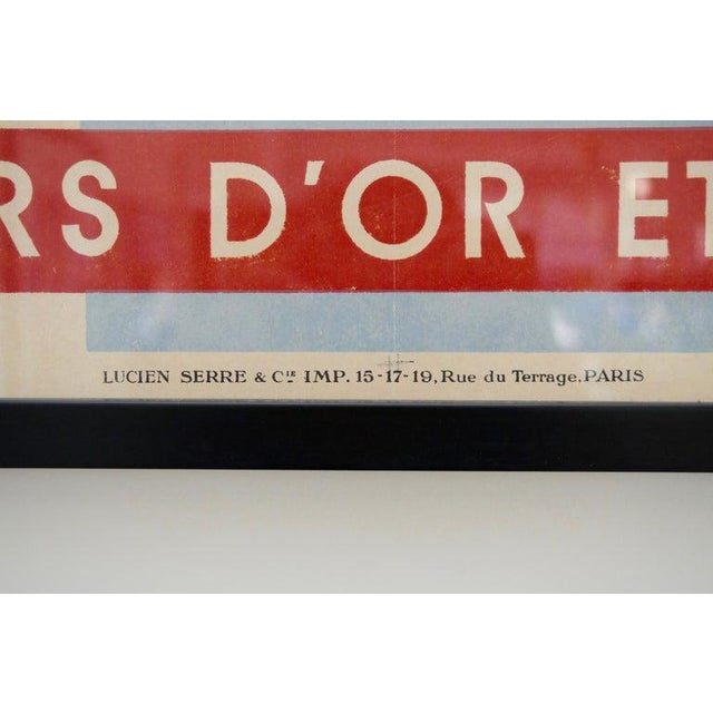 This French Art Deco poster dates to the 1920s-1930s and was acquired from a Palm Beach estate. The main writing...