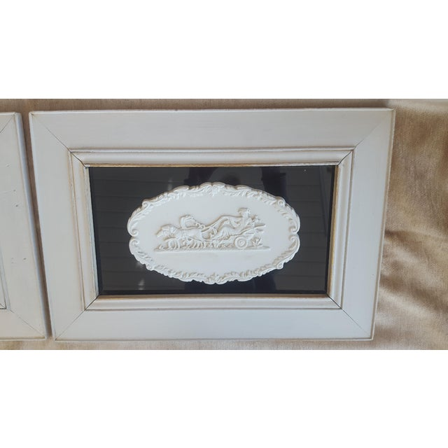 Vintage Neoclassical Framed Intaglios - a Pair For Sale In Charlotte - Image 6 of 13