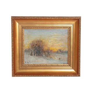 """Winter Landscape at Sunset"" by Karl Eugene Felix For Sale"