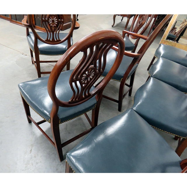 Set of 8 Georgian Style Dining Room Chairs For Sale - Image 11 of 12