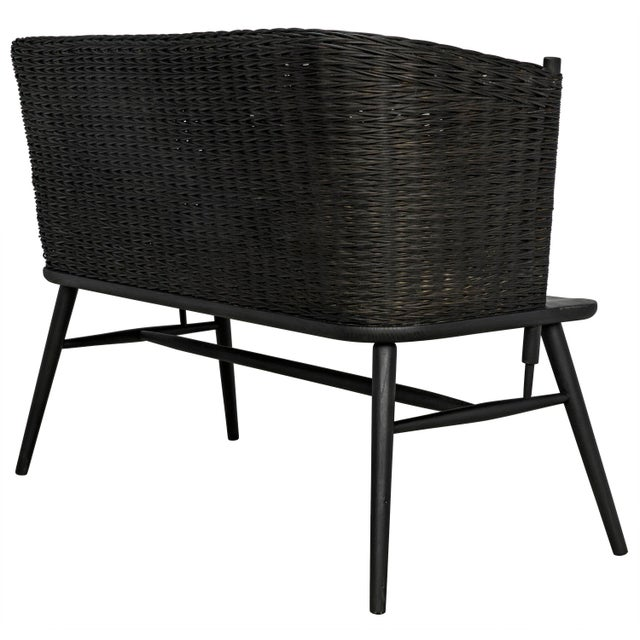 Curba Loveseat, Charcoal Black For Sale In Los Angeles - Image 6 of 9