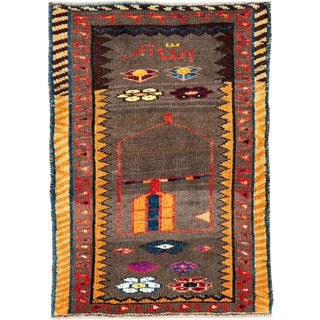 """Vintage Persian Gabbeh Rug – Size: 2' 1"""" X 2' 10"""" For Sale"""