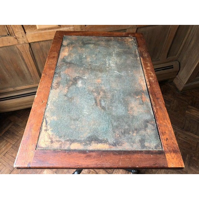 Metal Antique Industrial Adjustable Cast Iron Drafting Table / Desk For Sale - Image 7 of 11