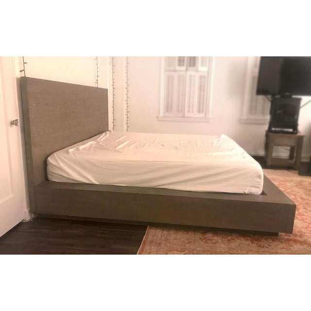 Restoration Hardware Van Thiels for Restoration Hardware Oak King Machinto Bed For Sale - Image 4 of 11