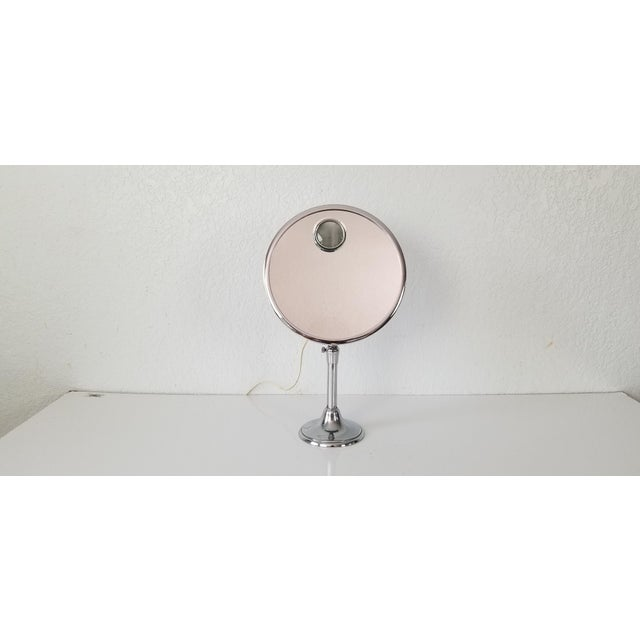 Silver 1960 Brot Mirophar Illuminated Vanity Mirror Paris - France . For Sale - Image 8 of 13