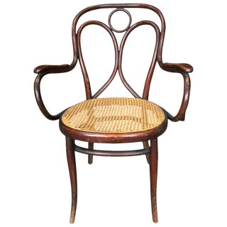 Mid-Century Thonet Bistro Bentwood Armchair For Sale