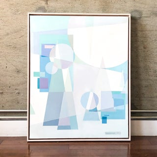 Original Mid Century German Cubist Painting, Signed by Artist 1971 Preview