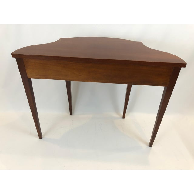 Serpentine Flame Mahogany and Inlaid Console Table For Sale - Image 9 of 10