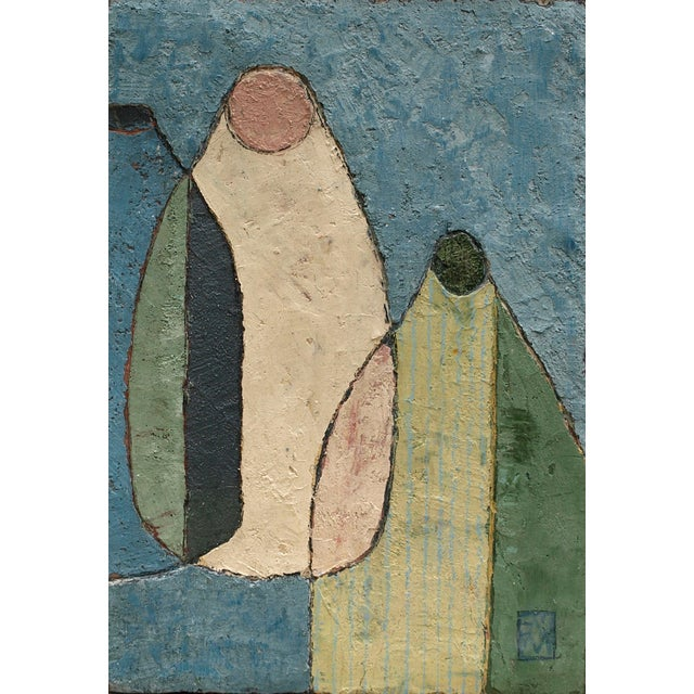 "Enni Contemporary Mixed Media Still Life ""Combo in Blue"" For Sale - Image 9 of 9"