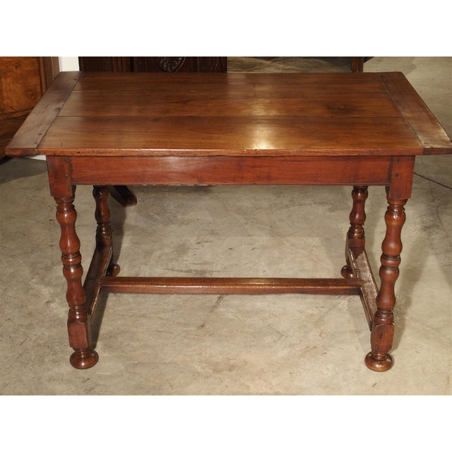 Antique Cherry and Walnut Wood Side Table, 18th Century For Sale - Image 10 of 12